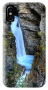 Johnston Canyon Falls Hike Upper Falls IPhone Case