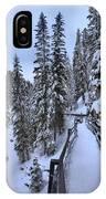 Johnston Canyon Winter Boardwalk IPhone Case