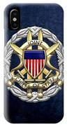 Joint Chiefs Of Staff - J C S Identification Badge On Blue Velvet IPhone Case