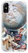 Joseph Pulitzer Cartoon IPhone Case