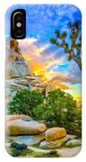 Joshua Tree Magic Hour Hdr IPhone Case