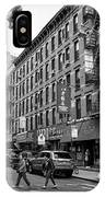 junction of bayard street and mulberry street chinatown New York City USA IPhone Case