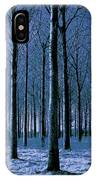 Jungle Trees In Blue  IPhone Case