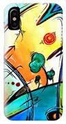 Just Having Fun Original Pop Art Abstract Painting By Madart IPhone Case