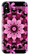 Kaleidoscope 1 With Black Flower Framing IPhone Case