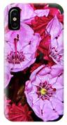 Kalmia Latifolia - Firecracker Mountain Laurel 001 IPhone Case