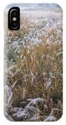 Kans Grass In Mist IPhone Case