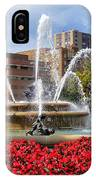 Kansas City Fountain Ablaze In Crimson IPhone Case