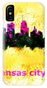 Kansas City Skyline 1 IPhone Case