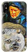 Kaptain Van Janned And His Trusty Bear Vincent IPhone Case