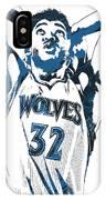 Karl Anthony Towns Minnesota Timberwolves Pixel Art IPhone Case
