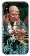 Kashia Pomo Woman Weaving Basket IPhone Case