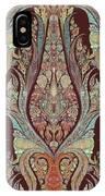 Kashmir Elephants - Vintage Style Patterned Tribal Boho Chic Art IPhone Case