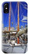 Kathleen Gillett The Artist Cruising Ketch IPhone Case