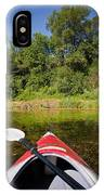 Kayak On A Forested Lake IPhone Case