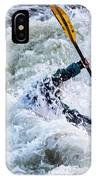 Kayaker In Action At Pipeline Rapids In James River 5956c IPhone Case