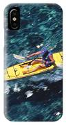 Kayaker Over Coral Reef IPhone Case