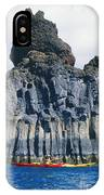 Kayaking Past Cliffs IPhone Case