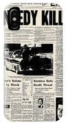 Kennedy Assassination, 1963 IPhone Case