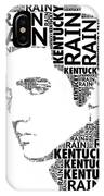 Kentucky Rain Elvis Wordart IPhone Case