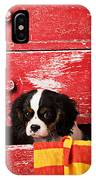 King Charles Cavalier Puppy  IPhone Case