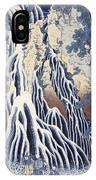 Kirifuri Fall On Kurokami Mount IPhone Case