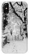 Kissing Gate In The Snow IPhone Case