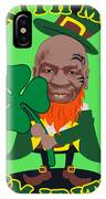 Kith Me I'm Irith Funny Novelty Mike Tyson Inspired Design For St Patrick's Day IPhone Case