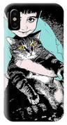 Kitty Loves Me IPhone Case