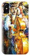 Klezmer Cats - Palette Knife Oil Painting On Canvas By Leonid Afremov IPhone Case