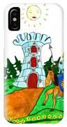 Brave Knight-errant And His Funny Wise Horse IPhone Case