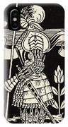 Knight Of Arthur, Preparing To Go Into Battle, Illustration From Le Morte D'arthur By Thomas Malory IPhone Case