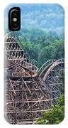 Knobels Wooden Roller Coaster  IPhone Case