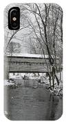 Knox Valley Forge Covered Bridge In Winter IPhone Case