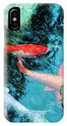 Koi Pond 4 IPhone Case
