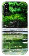 Koi Pond Bridge - Japanese Garden IPhone Case
