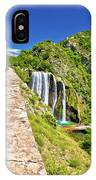 Krcic Waterfall In Knin Scenic View IPhone Case