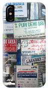 Kuta Street Signs -- Bali IPhone Case
