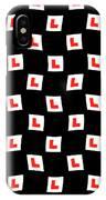L-plate Wallpaper IPhone Case