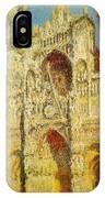 La Cathedrale De Rouen Le Portail Et La Tour Saint-ro Claude Oscar Monet IPhone Case