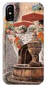 la fontana a St Paul de Vence IPhone Case