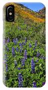 La Jolla Canyon Lupines IPhone Case