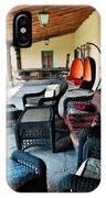 La Posada Historic Hotel Veranda Portrait IPhone Case