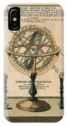 La Sphere Artificielle - Illustration Of The Globe - Celestial And Terrestrial Globes - Astrolabe IPhone Case