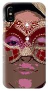 Lady Behind The Mask IPhone Case