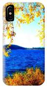 Lake Coeur D'alene Through Golden Leaves IPhone Case