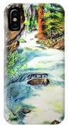 Lake Como Waterfall IPhone Case