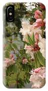 Lake Crescent Lodge Rhododendrons IPhone Case