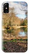 Lake In Early Springtime Woodland IPhone Case