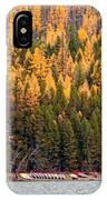 Lake Mcdonald Boatshed IPhone Case